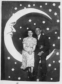 John McGarrity and wife Norma at Luna Park, Melbourne in 1939.